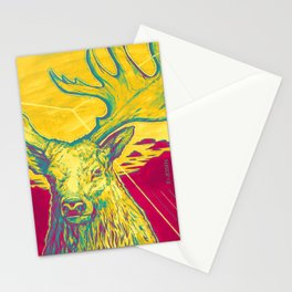 Stag Dimension of Yellow Stationery Cards