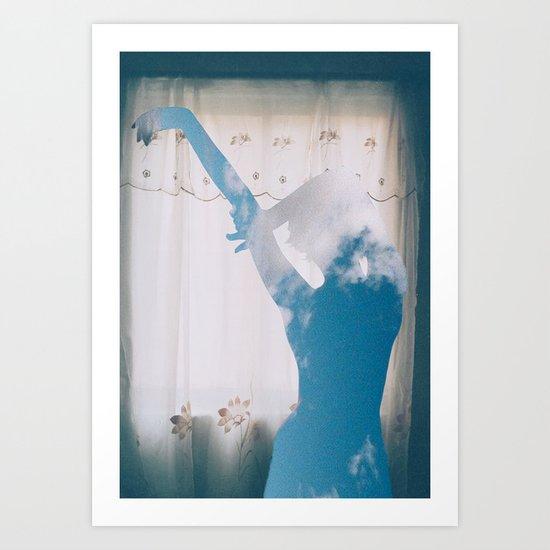 Cloudy Girl Art Print