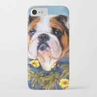 english bulldog iPhone & iPod Cases featuring Chic English Bulldog by Jai Johnson
