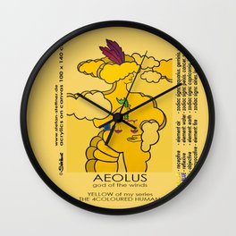 AEOLUS (god of the winds) Wall Clock