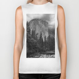 Yosemite National Park, El Capitan, Black and White Photography, Outdoors, Landscape, National Parks Biker Tank