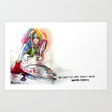 You can't fly with someone else's dreams Art Print