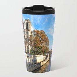 Notre Dame in Autumn Travel Mug