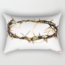 corona de espinas ( crown of thorns ) Rectangular Pillow