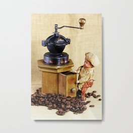 Coffee man 2 Metal Print