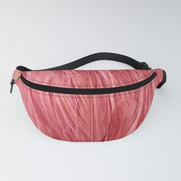 Pink Feather Texture Fanny Pack