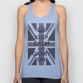 Keep Calm and Carry On UK - Purple/Grey Unisex Tank Top