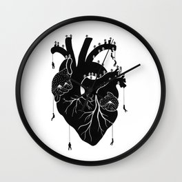 People escaping Wall Clock