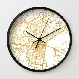 PHILADELPHIA PENNSYLVANIA CITY STREET MAP ART Wall Clock