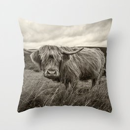 Moo Hair Throw Pillow
