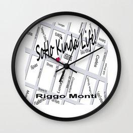 Riggo Monti Design #20 - Soho Kinda Life Wall Clock