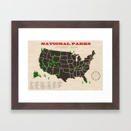 National Parks Framed Art Print