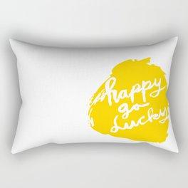 Happy Go Lucky Rectangular Pillow