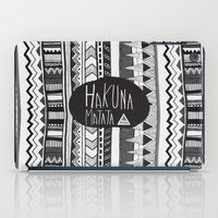 hakuna iPad Cases featuring HAKUNA MATATA  by Vasare Nar