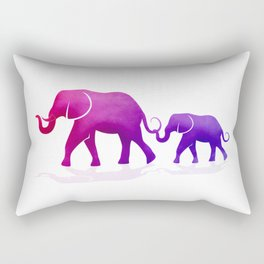 Mama and Baby Elephant Rectangular Pillow