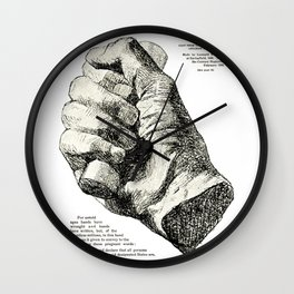 Cast from the Right Hand Of Abraham Lincoln Wall Clock