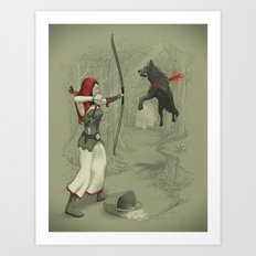 Little Red Robin Hood Art Print