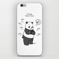 Panda likes Likes  iPhone & iPod Skin