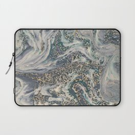 Metallic Marbled Agate Laptop Sleeve