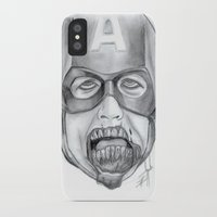 avenger iPhone & iPod Cases featuring Zombie Avenger by THINGS I DOODLE