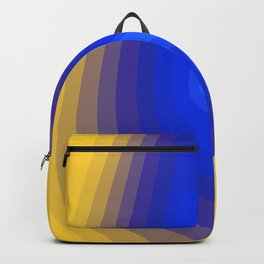 Blue and yellow Backpack