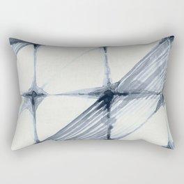 Simply Wabi-sabi in Indigo Blue on Lunar Gray Rectangular Pillow
