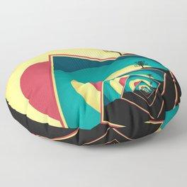 Spinning Disc Golf Baskets 2 Floor Pillow