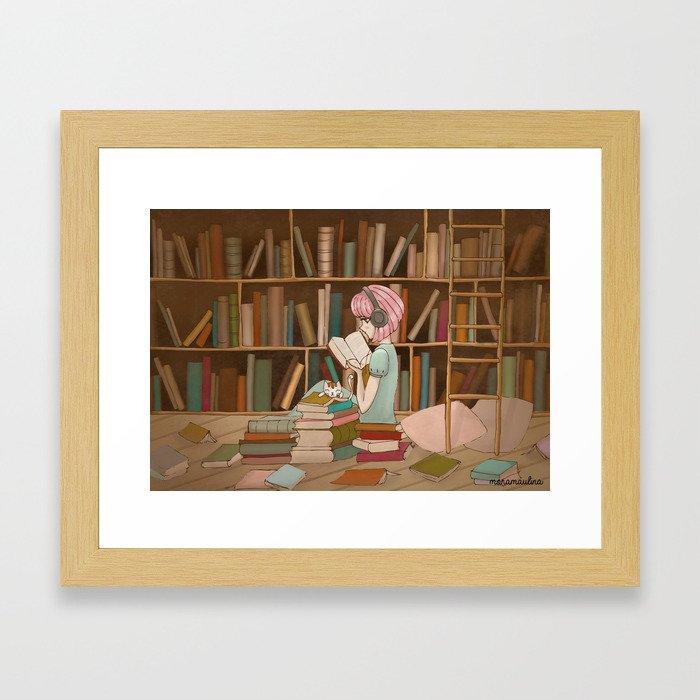 I Love Books Framed Art Print