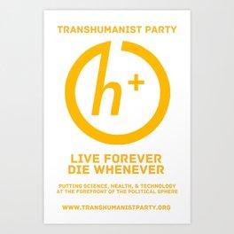 Transhumanist Party Art Print