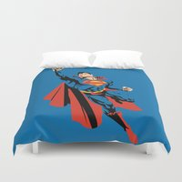 dc Duvet Covers featuring DC - Superman by TracingHorses