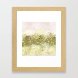 Choppy Soft Pink and Deep Yellow Ocean Water Framed Art Print