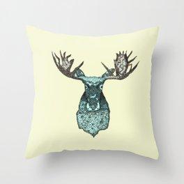 deer in the headlights Throw Pillow