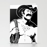 cowboy Stationery Cards featuring Cowboy by Fast Drip