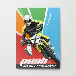 Motocross - Push Over The Limit Metal Print