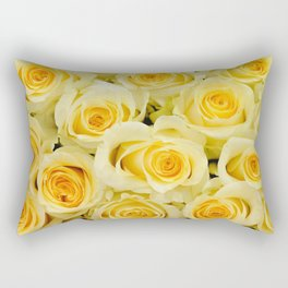 soft yellow roses close up Rectangular Pillow