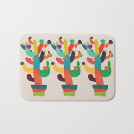 Whimsical Cactus Bath Mat