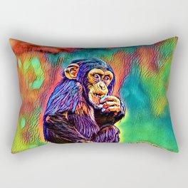 AnimalColor_Chimpanzee_005_by_JAMColors Rectangular Pillow