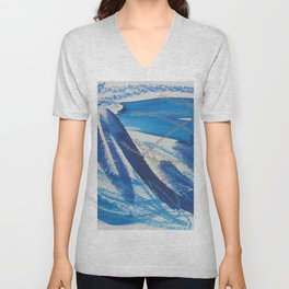 A Study in Blue, No. 2 Unisex V-Neck