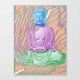 Glitch Buddha Canvas Print