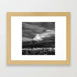 Lenticular Clouds Framed Art Print