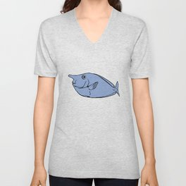 Unicorn fish illustration Unisex V-Neck