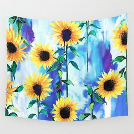 Sunflower Sky Wall Tapestry