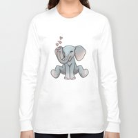 baby elephant Long Sleeve T-shirts featuring Baby Elephant by Beryl Kruger