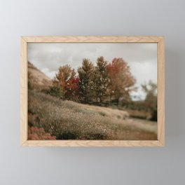 Her Autumn Meadow Framed Mini Art Print