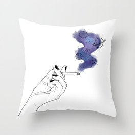 Galaxy smoke Throw Pillow