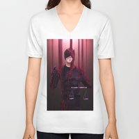 daredevil V-neck T-shirts featuring Daredevil/Salvator Lex by Krusca