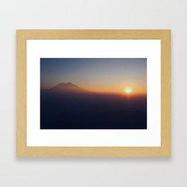 Wake Up Happy and Hike Framed Art Print