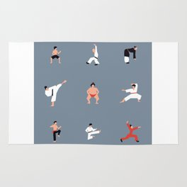 Karate Fighter & Sumo Wrestler Rug