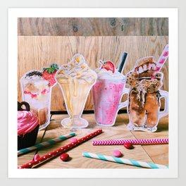 Milkshakes for 4 Art Print