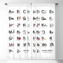 Sneaker Alphabet - Sneakerhead - Hypebeast - Birthday Gift - Art - Jordan Wall - Office Wall deco - Air Jordan - Yeezies Blackout Curtain
